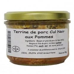 TERRINE DE PORC CUL NOIR AUX POMMES DU LIMOUSIN - 190 g