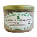 RILLETTES DE PORC AU JAMBON - 180 g