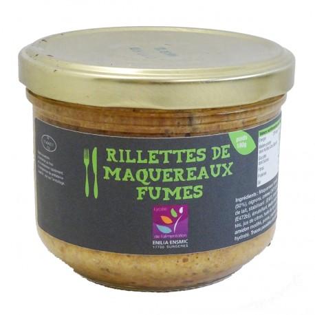 RILLETTES DE MAQUEREAUX FUMES - 180 g