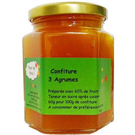 CONFITURE 3 AGRUMES - 300 g