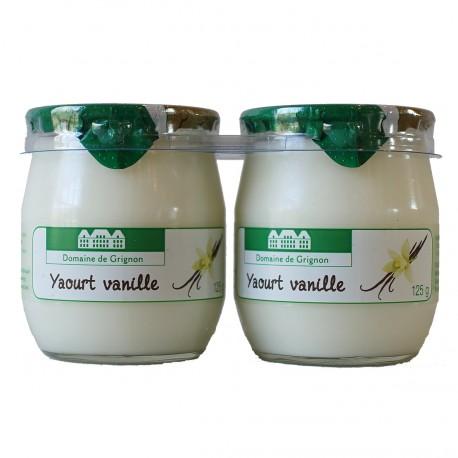 YAOURT VANILLE - 2 POTS VERRE - 250 g