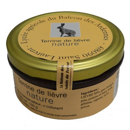 TERRINE DE LIEVRE NATURE - 150 g