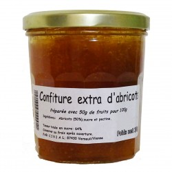 CONFITURE EXTRA D'ABRICOTS - 350 g