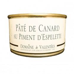 PÂTÉ DE CANARD AU PIMENT D'ESPELETTE - 125 g