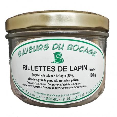 RILLETTES DE LAPIN - 180 g