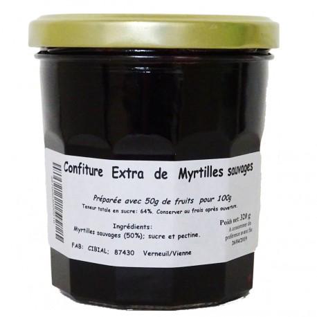 CONFITURE EXTRA DE MYRTILLES SAUVAGES - 320 g