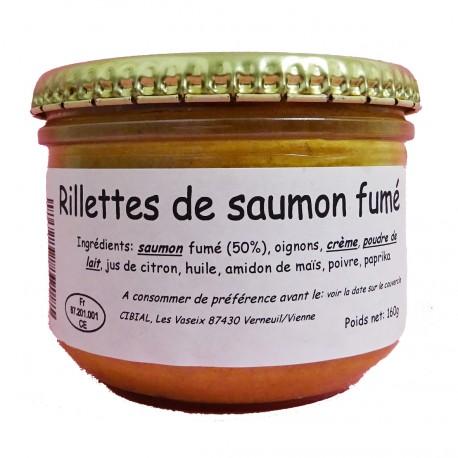 RILLETTES DE SAUMON FUME - 160 g