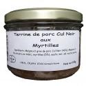 TERRINE DE PORC CUL NOIR AUX MYRTILLES - 190 g