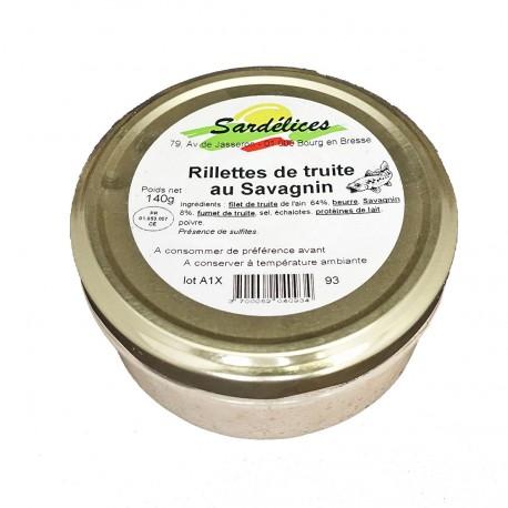 RILLETTES DE TRUITE AU SAVAGNIN - 140 g