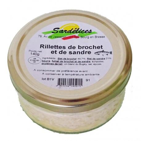 RILLETTES DE BROCHET ET DE SANDRE - 140 g