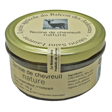 TERRINE DE CHEVREUIL NATURE - 150 g