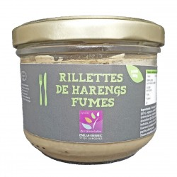 RILLETTES DE HARENGS FUMES - 180 g