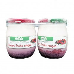 YAOURT FRUITS ROUGES - 2 POTS VERRE - 250 g