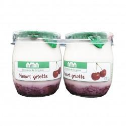 YAOURT GRIOTTE - 2 POTS VERRE - 250 g