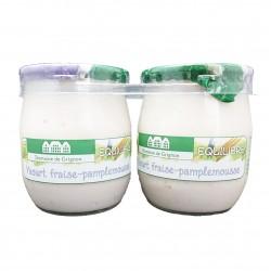 YAOURT FRAISE PAMPLEMOUSSE - 2 POTS VERRE - 250 g