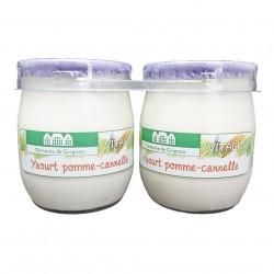 YAOURT POMME CANNELLE - 2 POTS VERRE - 250 g